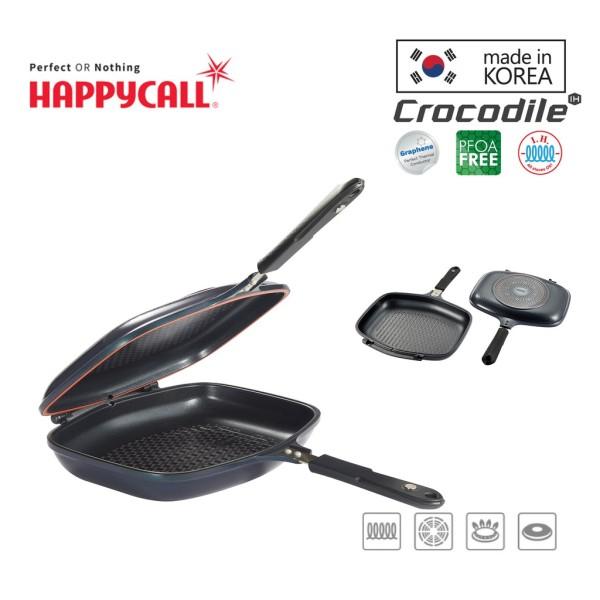 Happycall Crocodile IH Graphene Synchro Double Pan - Jumbo Singapore