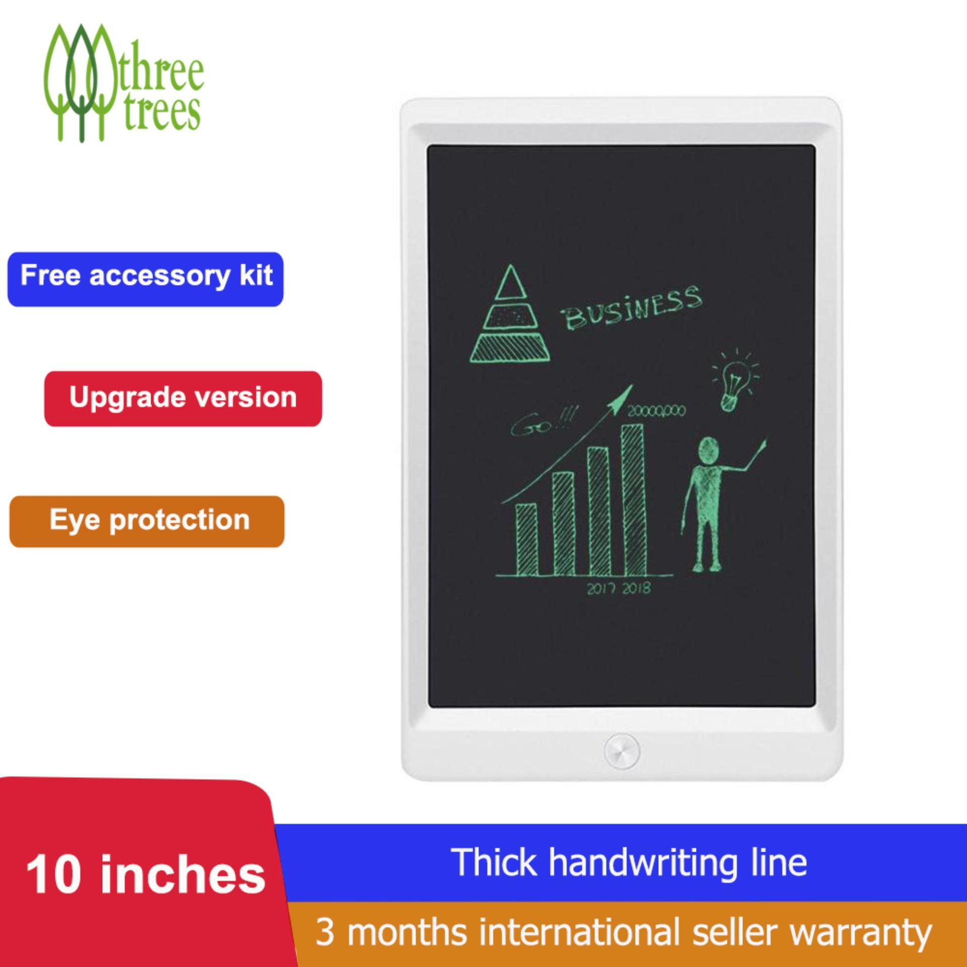 Three trees LCD Writing Tablet, 10 Inch Upgrade Version Portable Electronic Writing Drawing Board Doodle Pads for Kids and Adults, Digital Handwriting Notepad Use for School, Home and Office