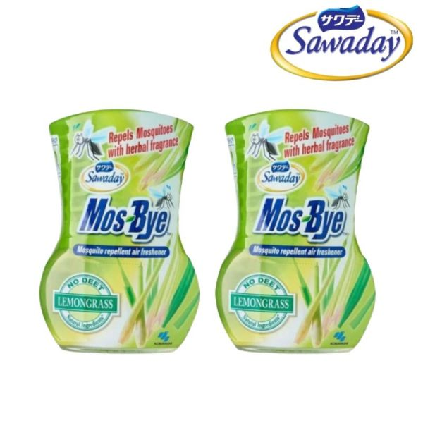 Buy [Bundle of 2] Sawaday Mos-Bye Lemongrass Mosquito Repellent 275ml [Aurigamart Authorized Distributor] Singapore