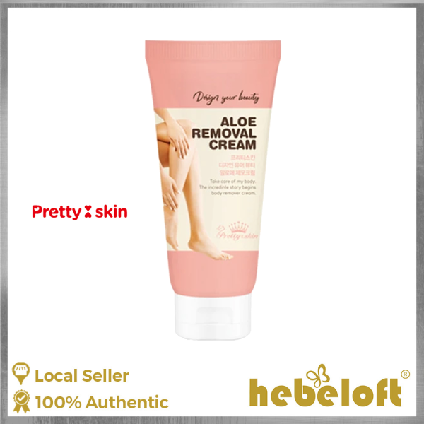 Buy Pretty Skin Hair Removal Cream 100ml, Suitable for Sensitive Skin, Moisturizing, K-Beauty - Hebeloft Singapore