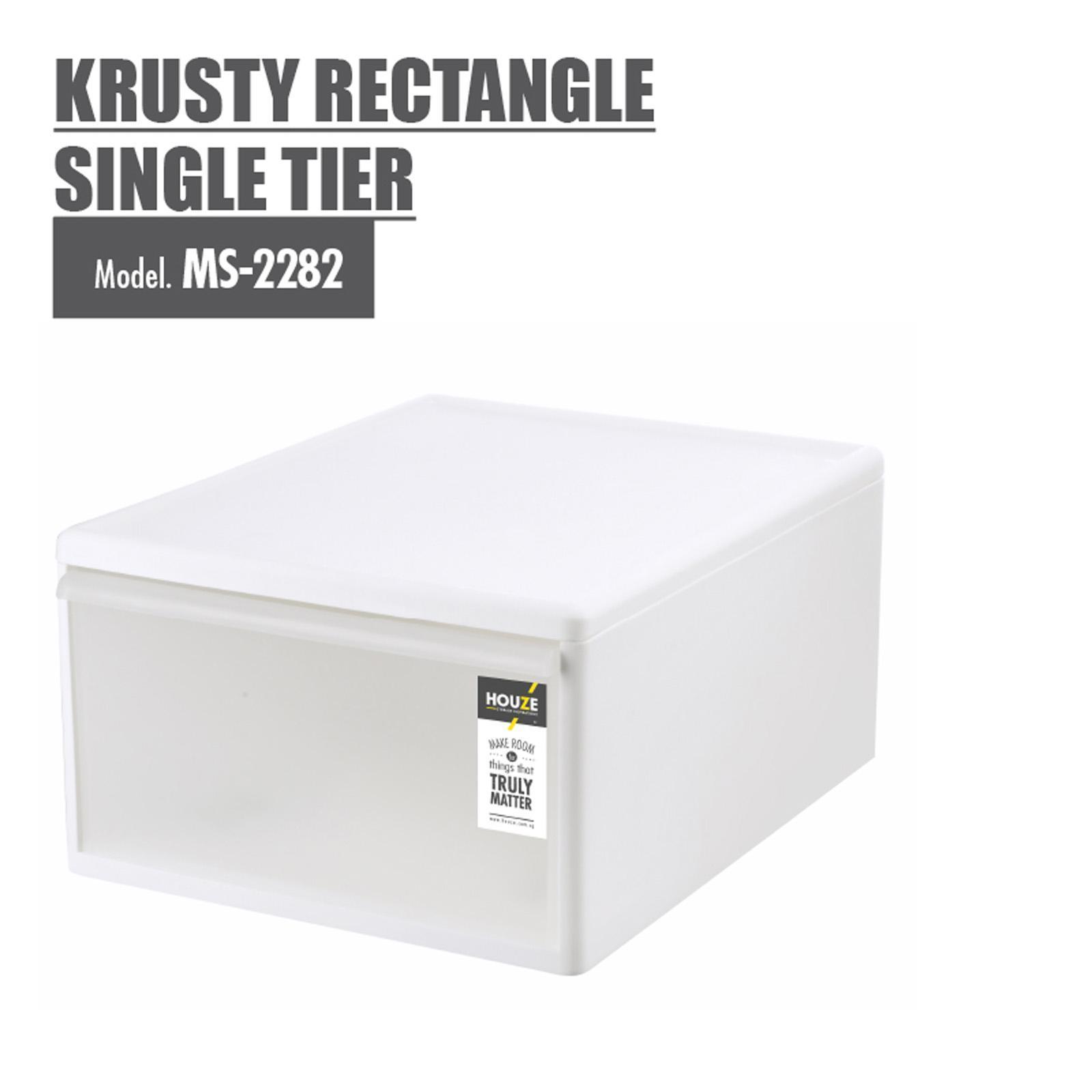 Houze 33L Krusty Rectangle Single Tier - Clear - MS-2282-CLEAR