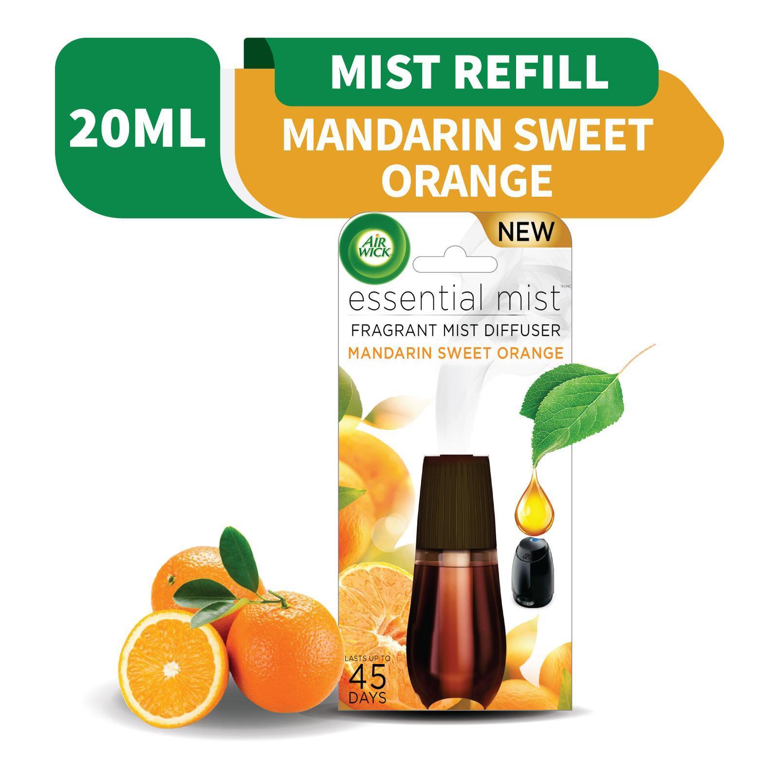 Air Wick Mandarin Sweet Orange Essential Mist Fragrance Diffuser Refill