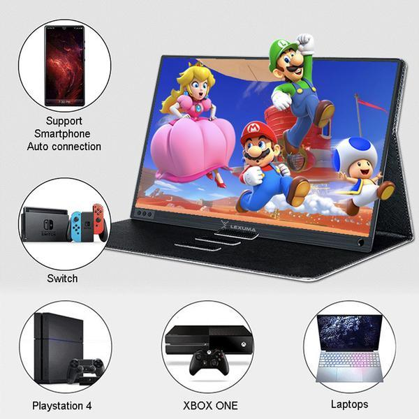Lexuma / BeeX 15.6 Touch Portable Monitor Type-C HDMI 1080P with battery - compatible with Switch, PC, Mac, Smartphone