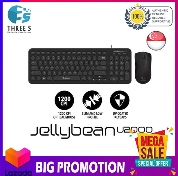 ALCATROZ JEALLYBEAN U200 COMBO KEYBOARD WITH MOUSE WIRED Singapore