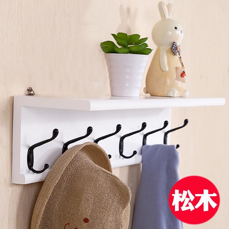 Minimalist Creative Wooden Shelf with Hooks