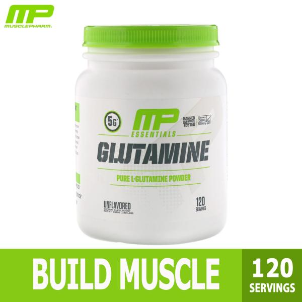 Buy MusclePharm, Glutamine Essentials, Build Muscle Unflavored, 600g (120 servings) Singapore