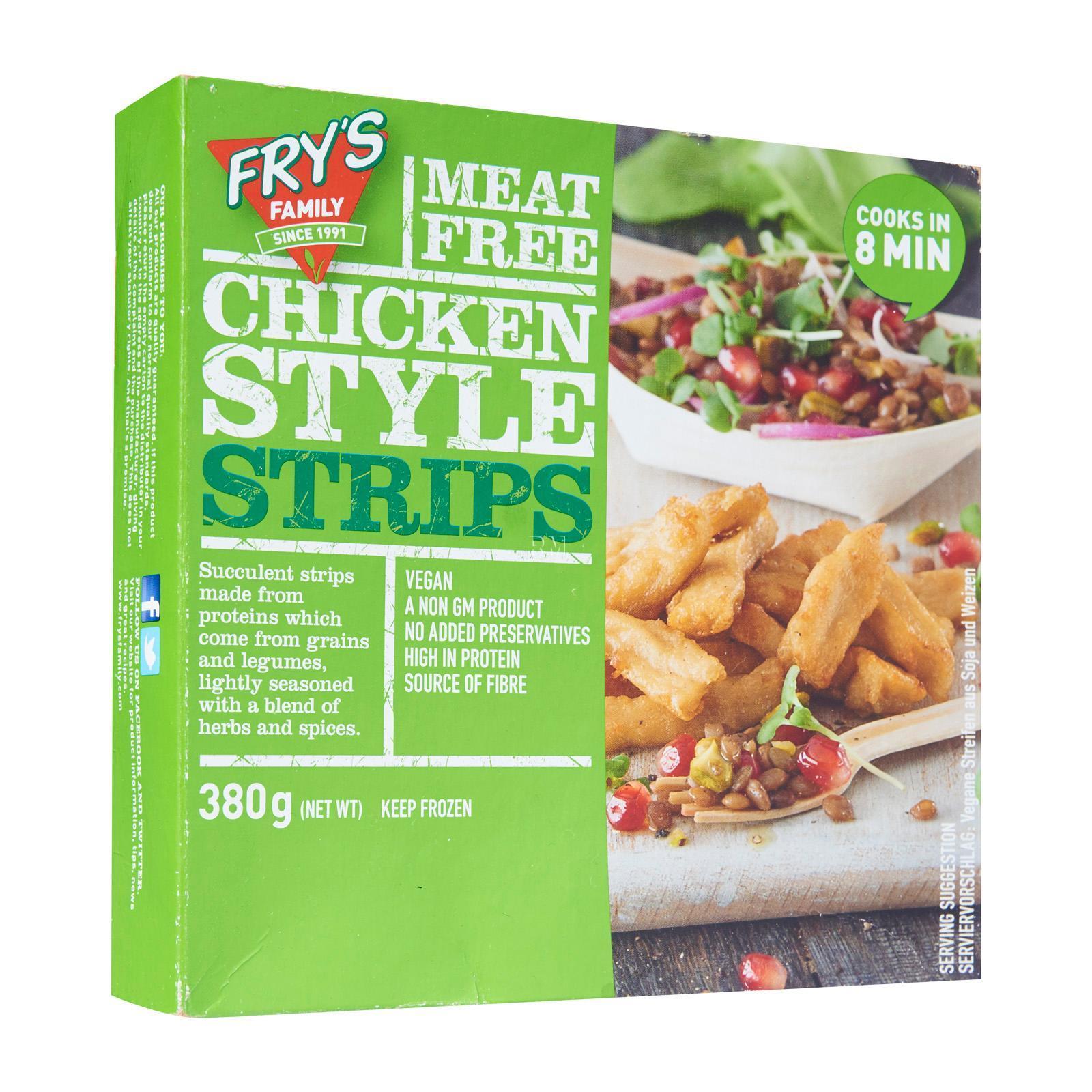 Frys Vegetarian Chicken-Style Strips - Frozen By Redmart.