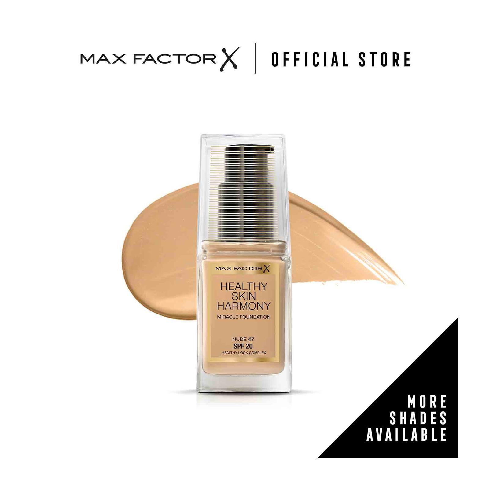 Max Factor Healthy Skin Harmony Miracle SPF 20 Foundation 47 Nude