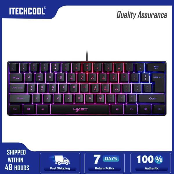 HXSJ V700 61 Keys RGB USB Wired Gaming Keyboard for Gamers PC Desktop Laptop 292x102x40mm Singapore