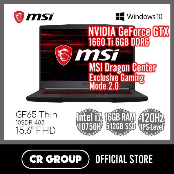 MSI GF65 Thin 10SDR-483 15.6 FHD | Intel® Core™ i7-10750H | NVIDIA GTX1660 Ti GDDR6 6GB | 16GB DDR4 RAM | 512GB SSD | IPS-Level 120Hz Thin Bezel
