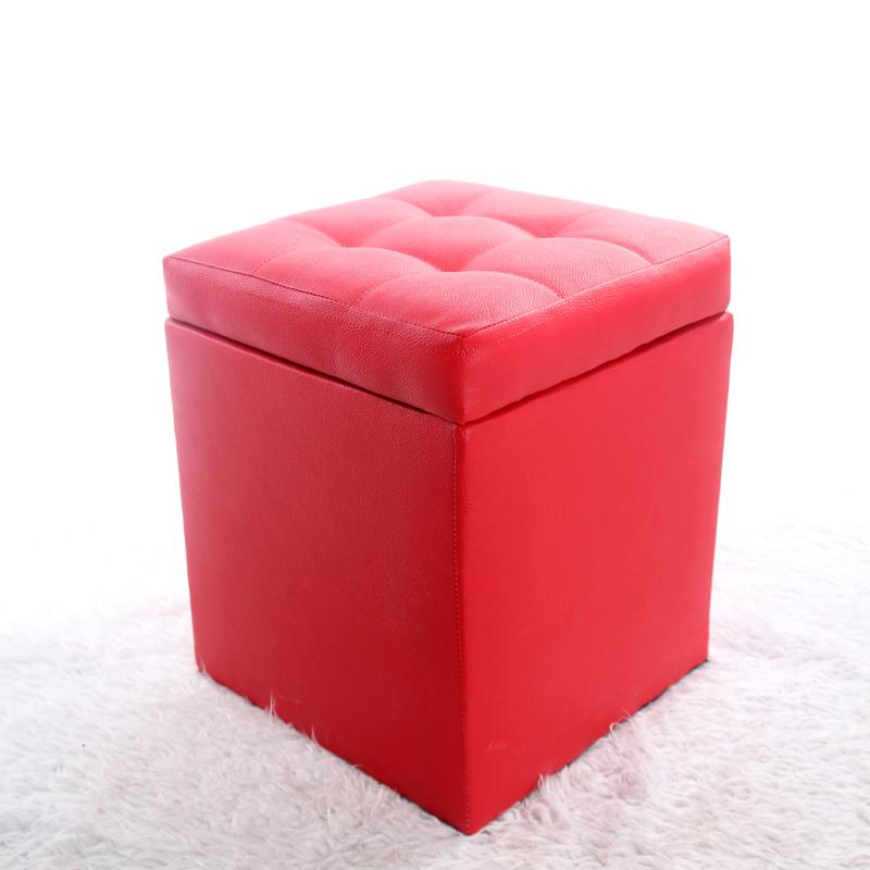 Solid Wood Storage Stool Storage Box Leather Bed End Stool Try Footstool Sofa Bench hua zhuang deng Piano Stool Adult
