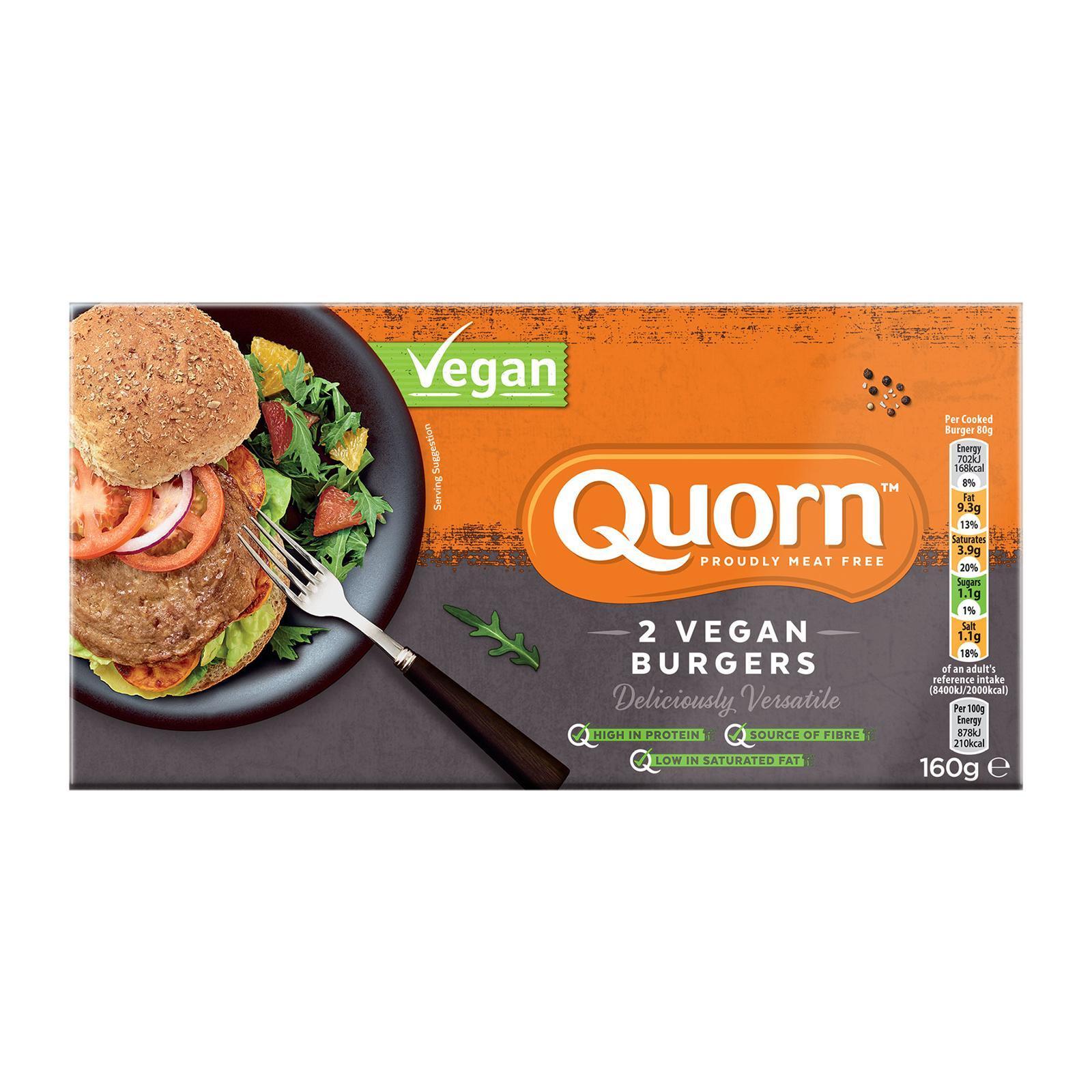 Quorn Vegan Burgers - Frozen By Redmart.