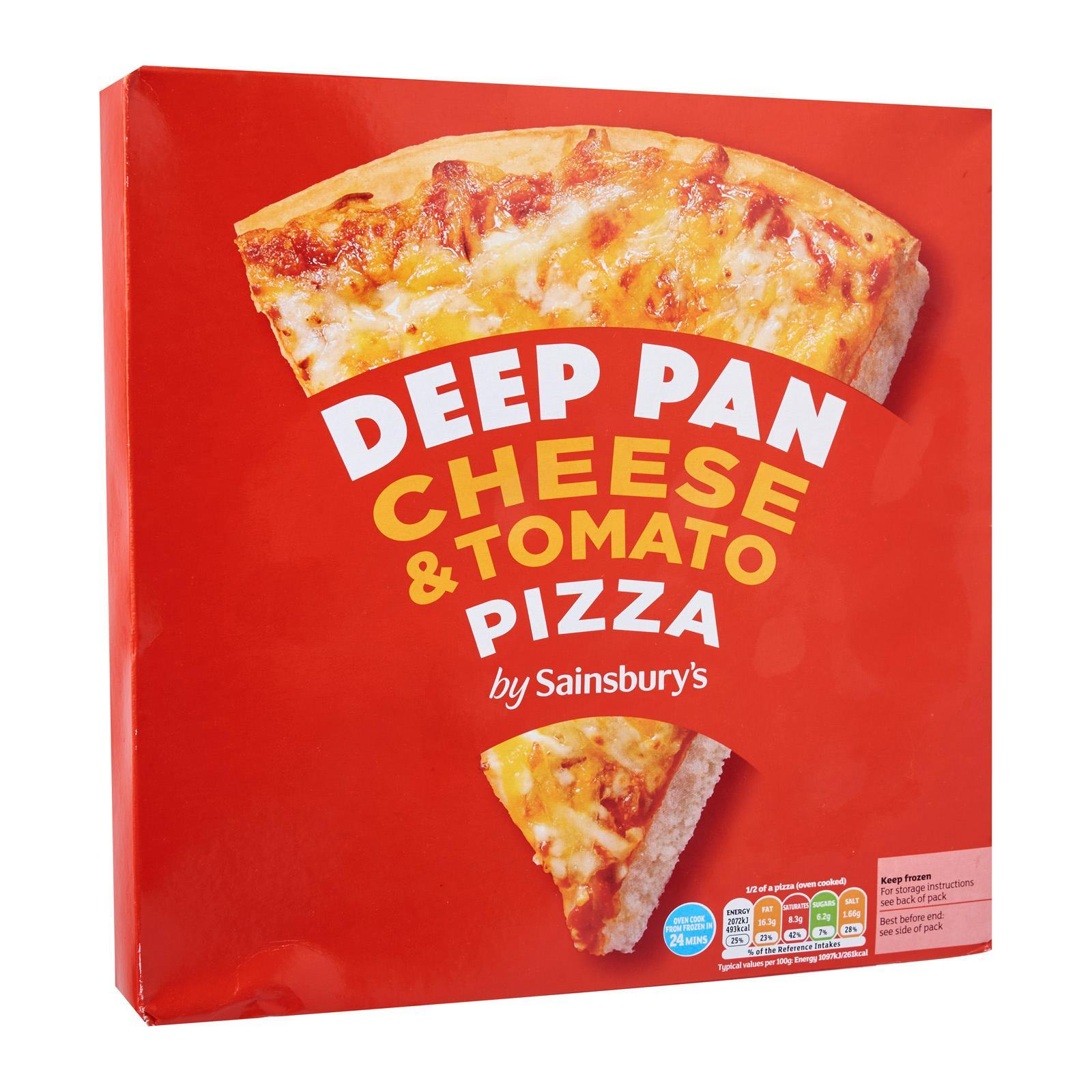 Sainsbury's Deep Pan Cheese And Tomato Pizza - Frozen