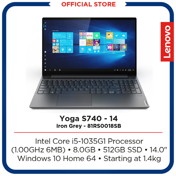 Lenovo Yoga S740-14IIL | Intel Core i5-1035G1 Processor |  8GB | 512GB | 14 | Iron Grey | 2Y Premium Care warranty