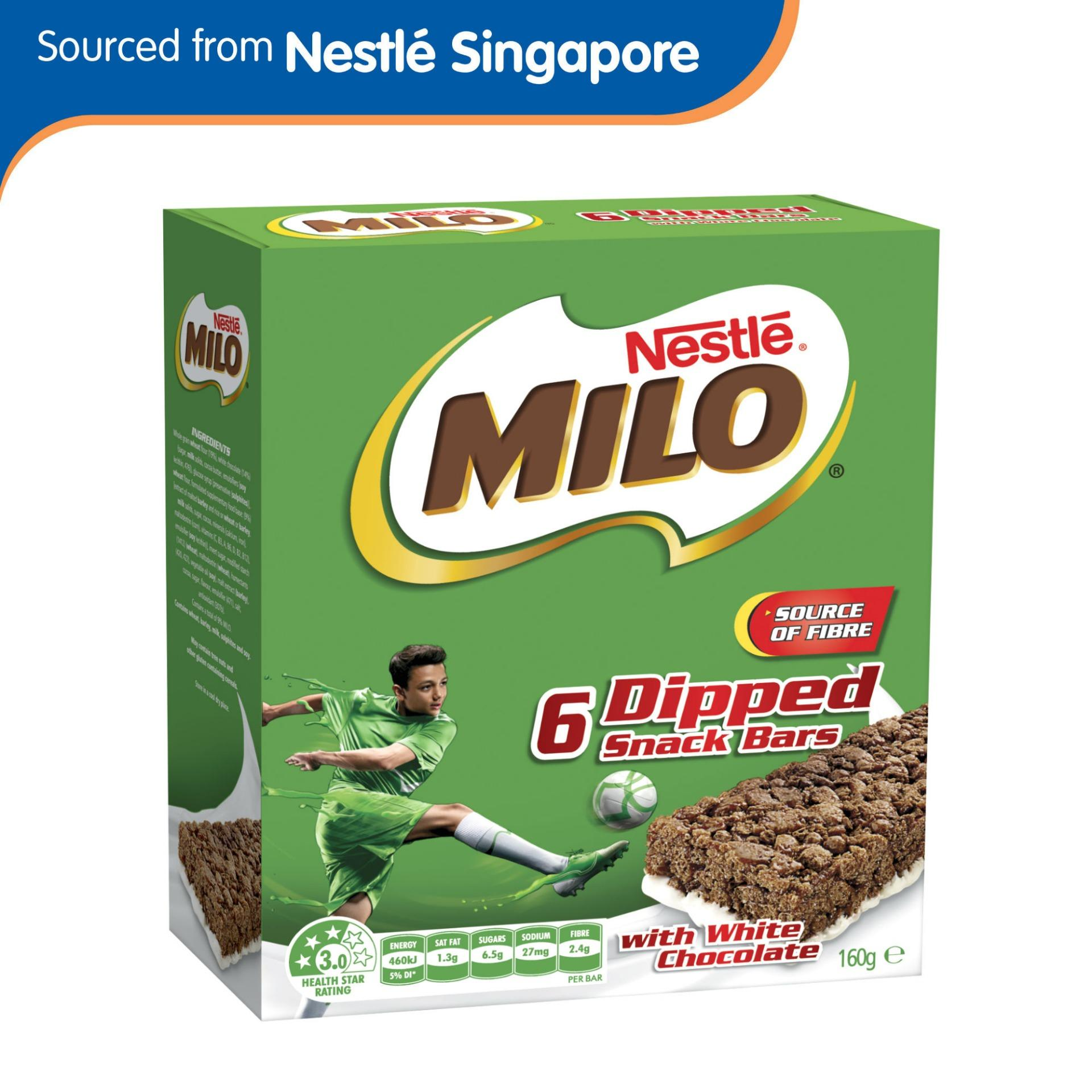 Milo Energy Snack Bar With White Chocolate 160g By Nestle Official Store.