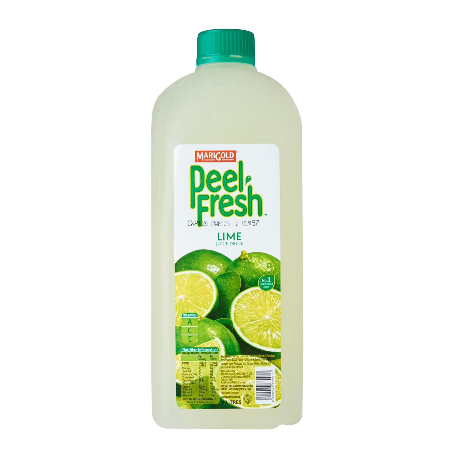 Marigold Peel Fresh Bottle Juice - Lime
