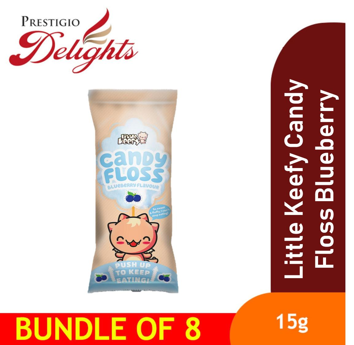 Little Keefy Candy Floss Blueberry Bundle Of 8 By Prestigio Delights.
