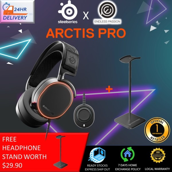SteelSeries Arctis Pro High Fidelity Gaming Headset - Hi-Res Speaker Drivers - DTS Headphone:X v2.0 Surround for PC [Free Headphone Stand + 24 hours delivery]