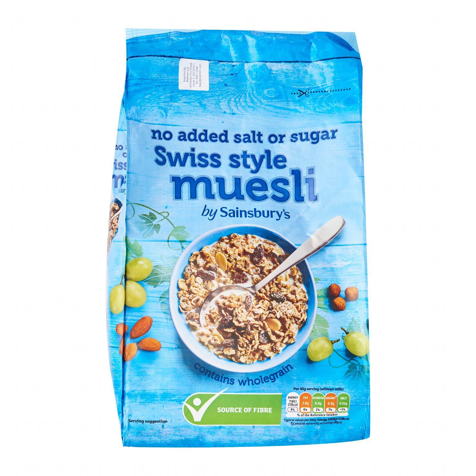 Sainsburys Swiss Muesli No Added Sugar Or Salt By Redmart.