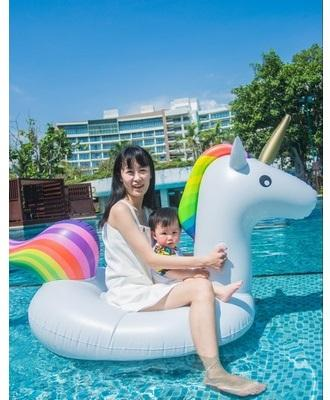 Inflatable Rainbow Swimming Pool Float Tube Raft Row Pvc Float Swim Ring Mattress Air Bed Summer Water Toy Cheap Sales 50% Baby & Kids' Floats