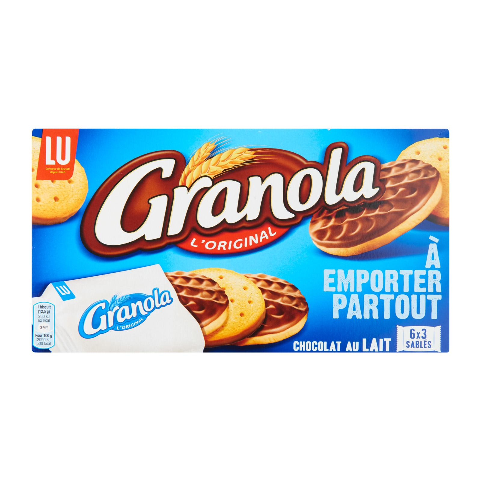 LU Granola Pocket Milk Chocolate and Coconut Biscuit