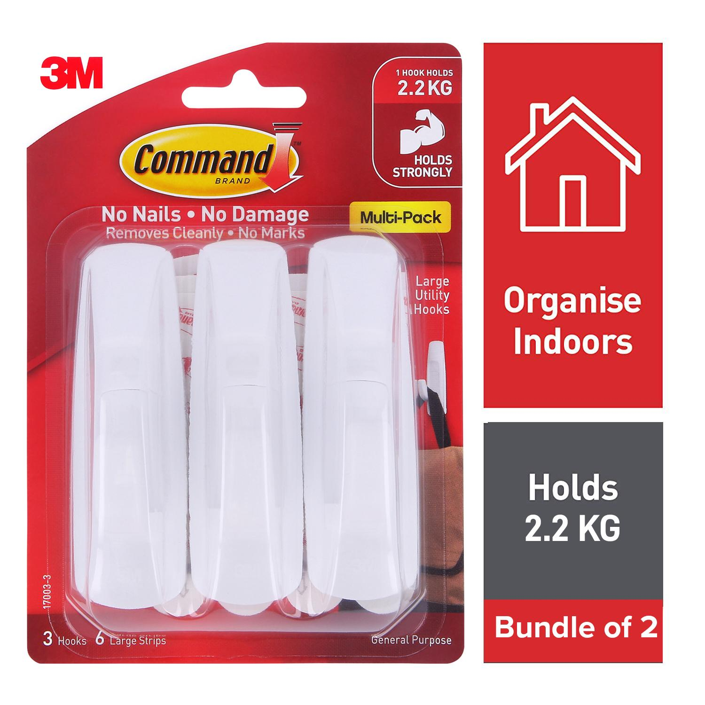 [Bundle of 2] 3M Command 17003-3 Large Utility Hook