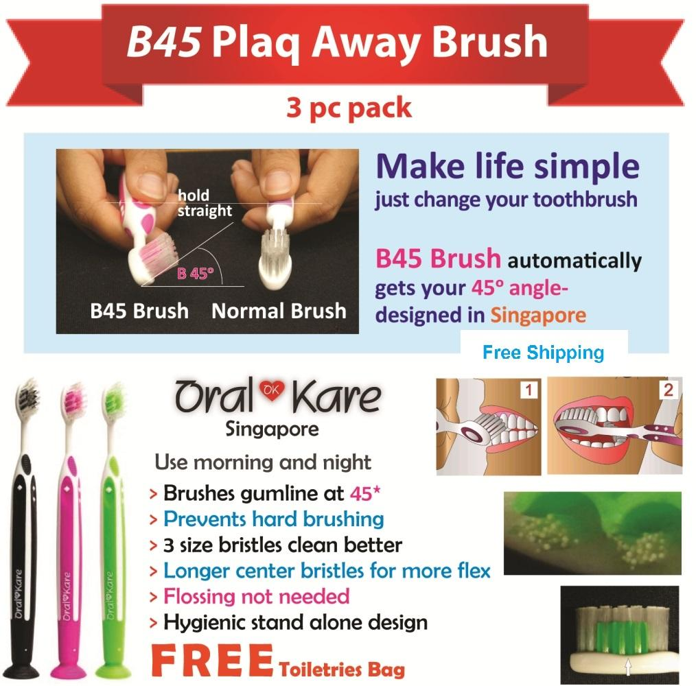 3pcs B45 Flossing Toothbrush Wholesale/liquidate/dropshipping/ Free Shipping/bulk/charity/donation/goodwill/non-Profit/ngo/give/best/cheap/cheapest /soft /non-Abrasive/health/cavity/gingivitis/bleeding/gums/dental/clean.