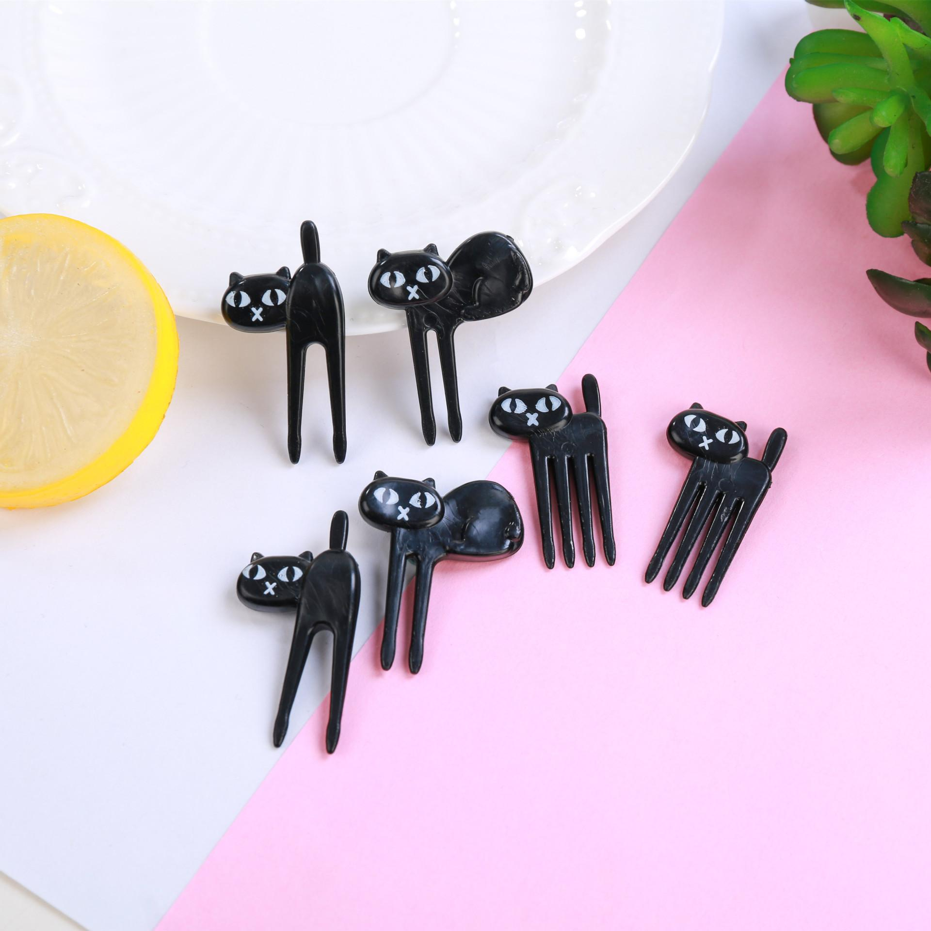 Zxyx Set Black Cat Fruit Fork Dessert Fork Kitchenware By Taobao Collection.