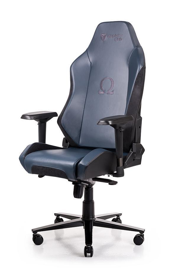 Secretlab OMEGA 2018 Series NAPA Leather Gaming Chair - Navy Blue w Black Suede
