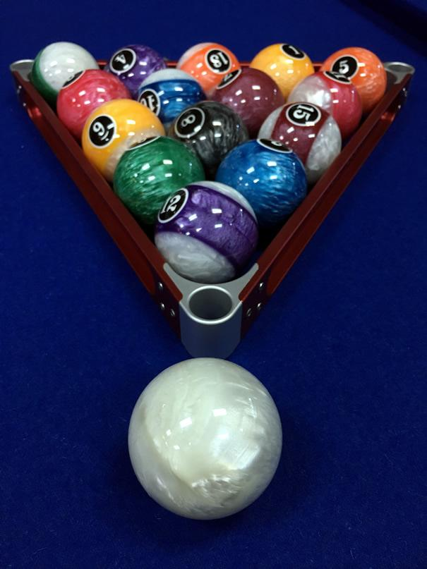 2.25 Standard Numbered Pool Ball Set- Crystal Shine Design