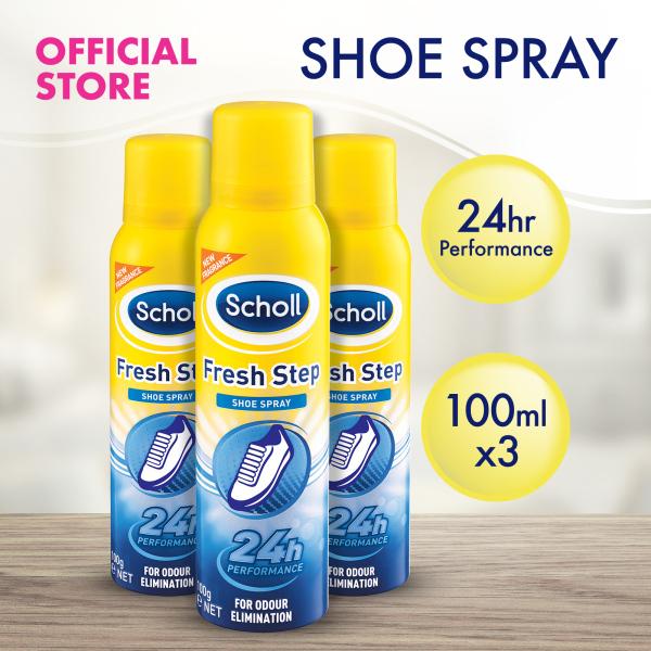 Buy [Bundle of 3] Scholl Fresh Step Shoe Spray for Odour Elimination 100ml Singapore