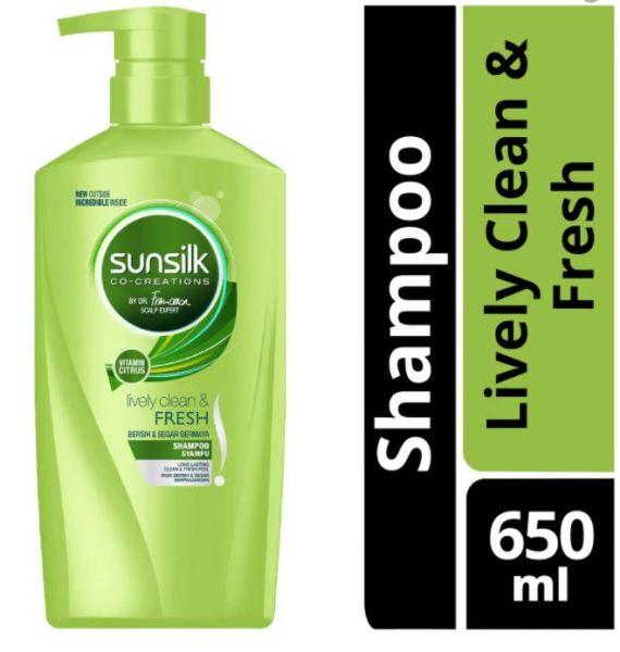 Buy [BUY 4 GET 2 FREE] SUNSILK LIVELY CLEAN & FRESH SHAMPOO WITHVITAMIN CITRUS 650ml X 6 Singapore
