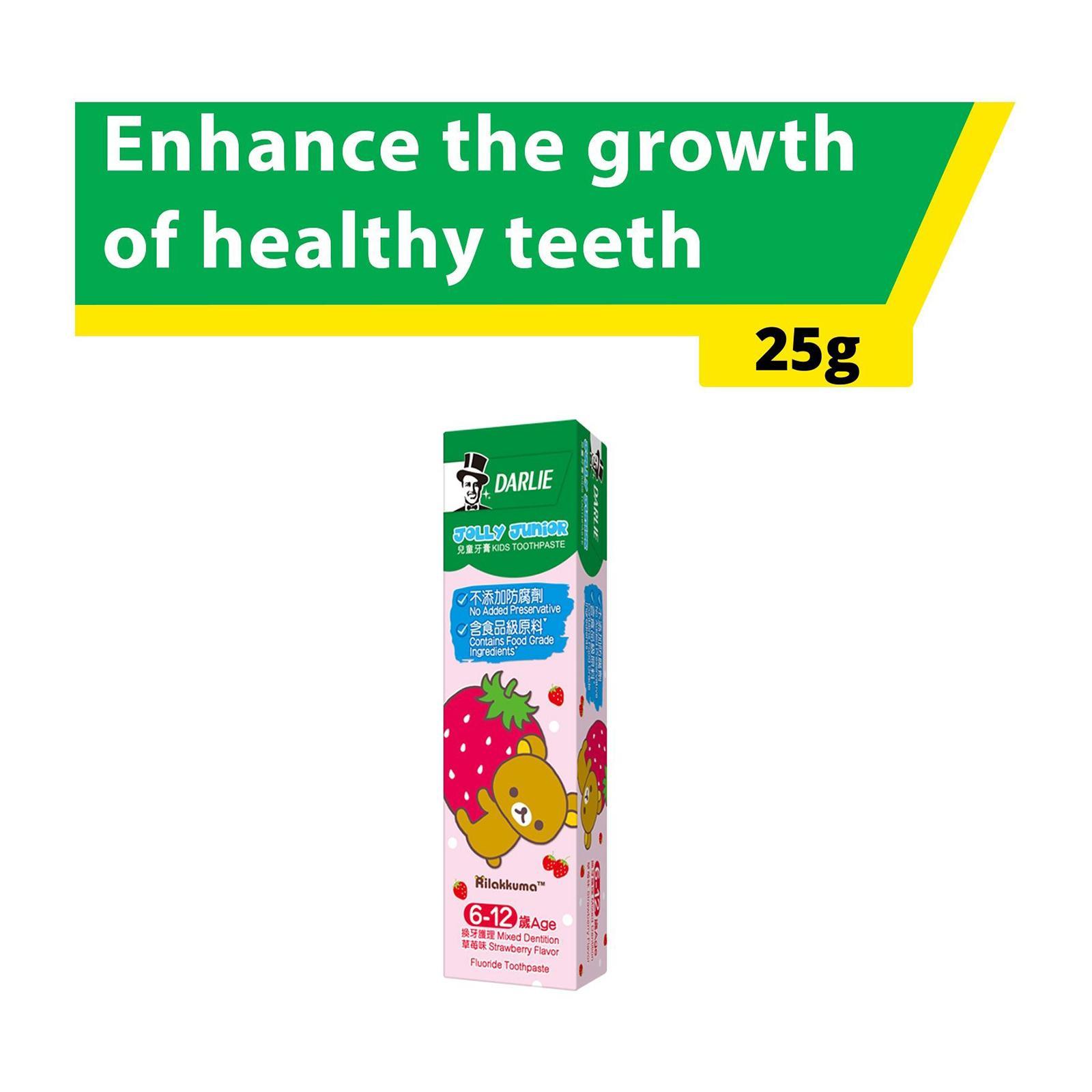Darlie Jolly Junior Kids Toothpaste - Strawberry Flavour (Age 6-12) SAMPLE