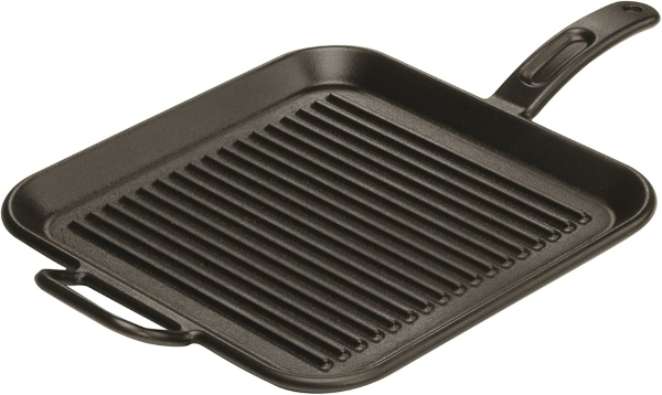 Lodge 12 Inch Square Cast Iron Grill Pan. Ribbed 12-Inch Square Cast Iron Grill Pan with Dual Handles. Singapore