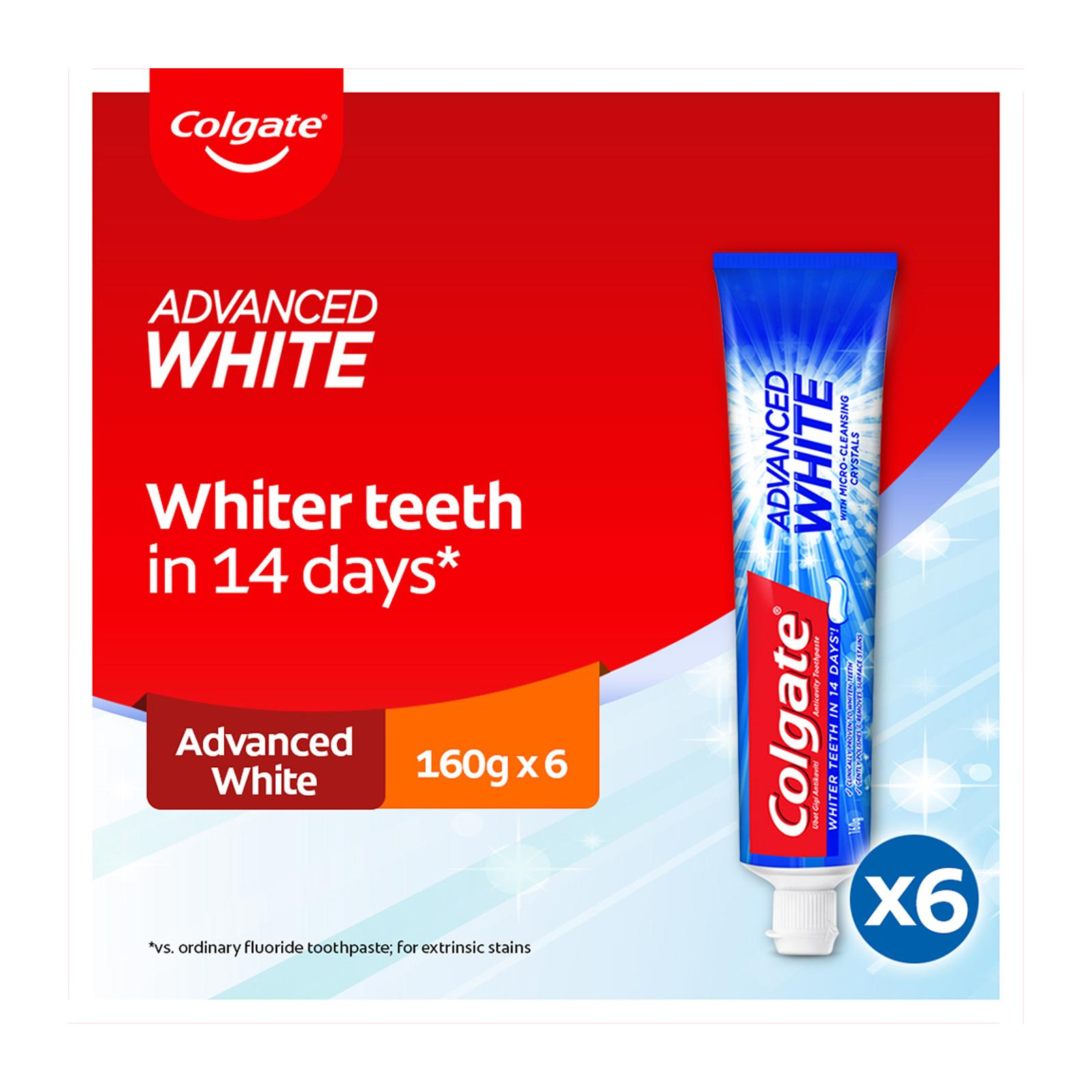 Colgate Advanced White Toothpaste Valuepack 160g x2 [Bundle of 3]