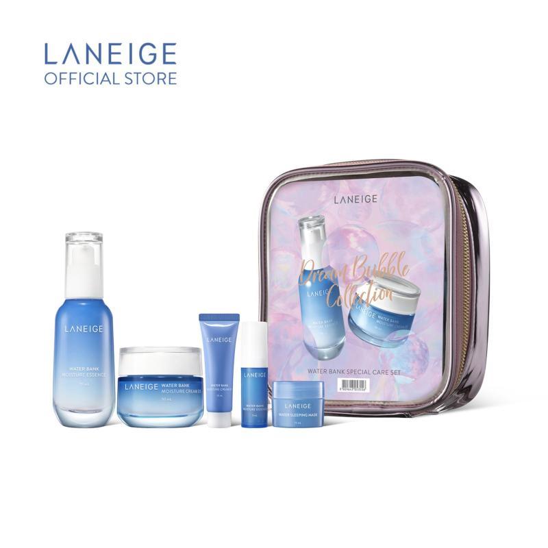 Buy [Dreamful Holiday] LANEIGE Water Bank Moisture Essence 70ml + Moisture Cream EX 50ml Set Singapore