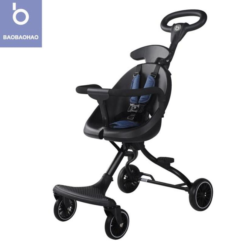 BAOBAOHAO V1 V3 Baby Stroller Two Way Push Portable Lightweight Foldable Baby Walker Walking Trolley Installation-free Singapore