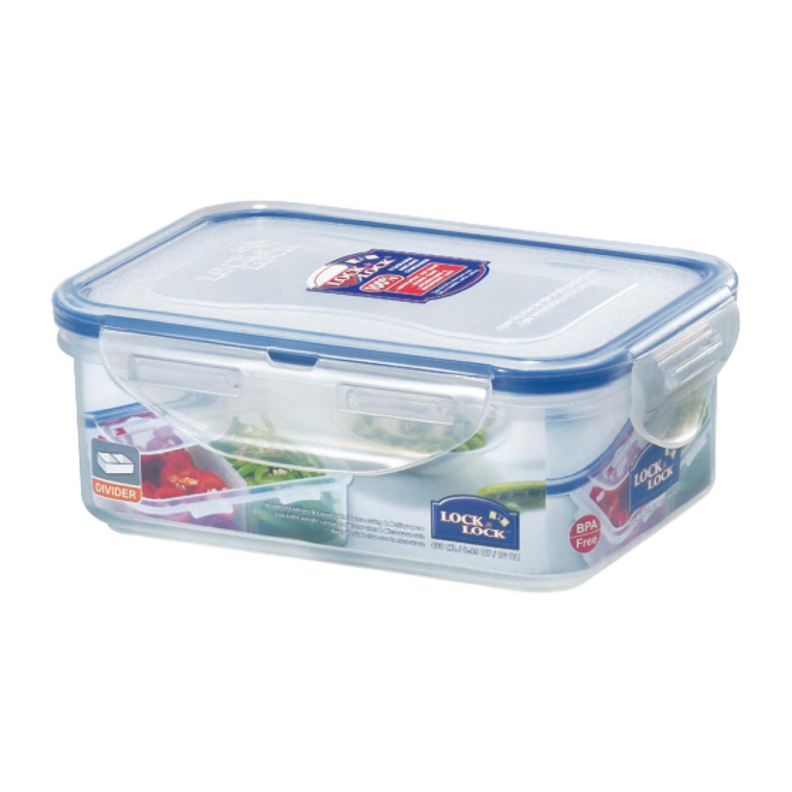 Lock & Lock Rectangular Classic Food Container 350ml With Divider