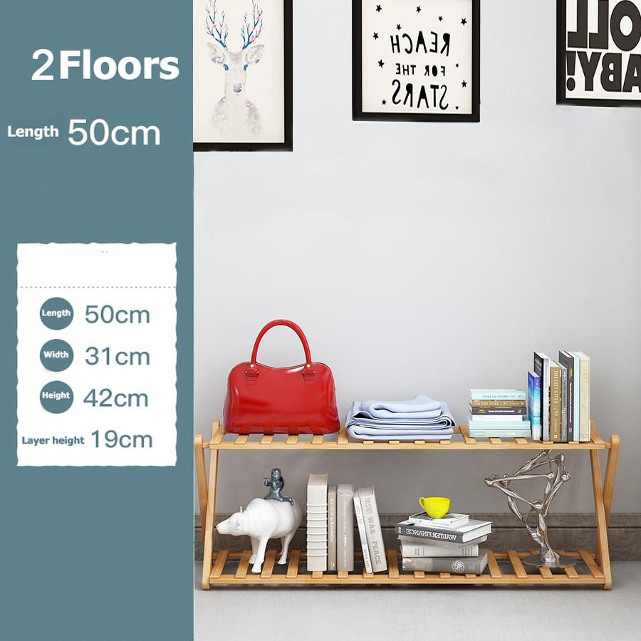 Folding shoe rack special price multi-layer simple wood simple home dormitory assembly nanzhu shelving(2 Floors)-intl