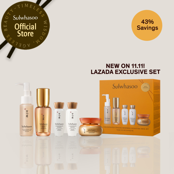 Buy Sulwhasoo Concentrated Ginseng Renewing Signature Trial Kit (Serum + Cream) Singapore