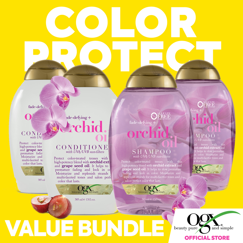 Buy OGX Orchid Oil Shampoo and Conditioner Set x2 Singapore