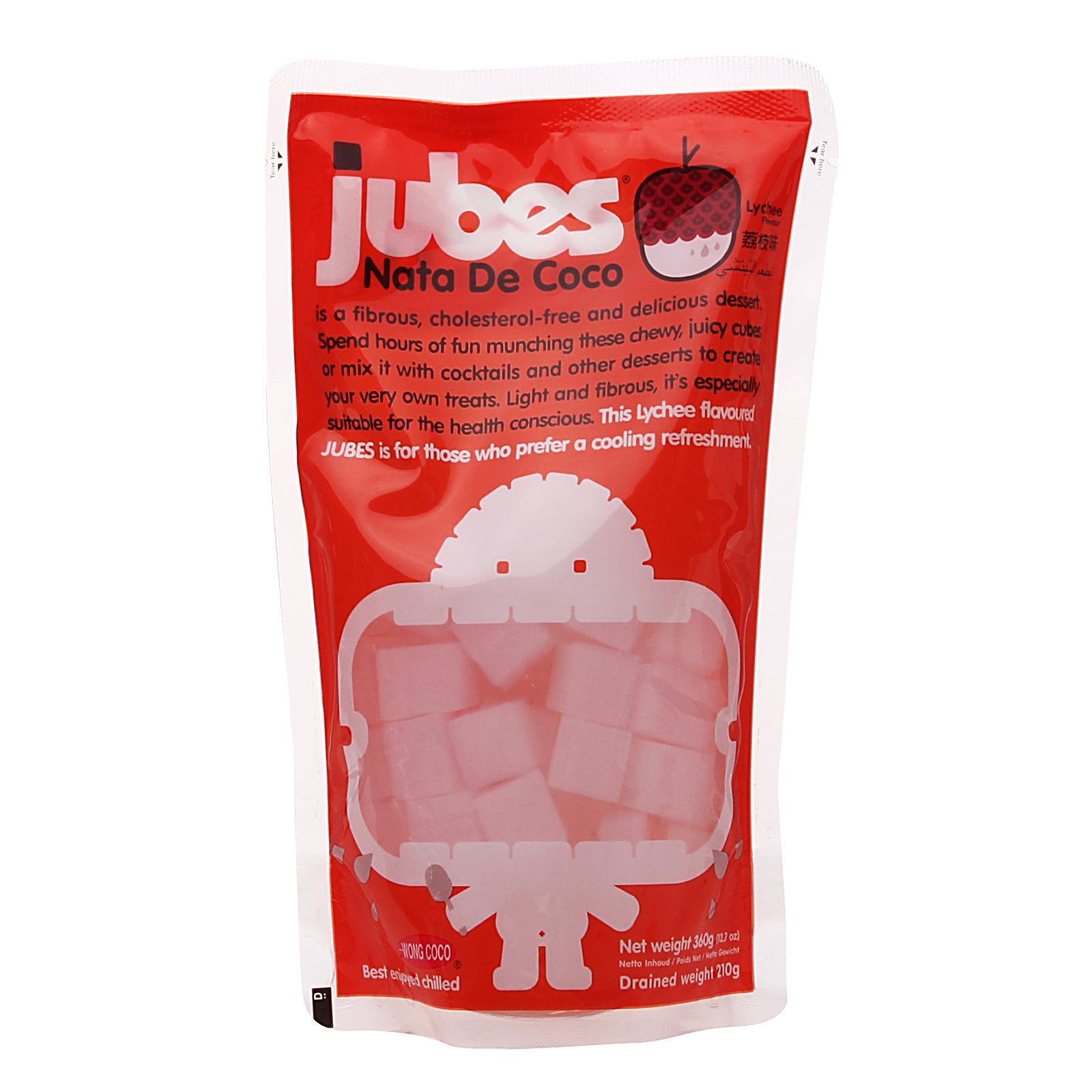 Jubes Nata De Coco Lychee Flavour Cubes By Redmart.