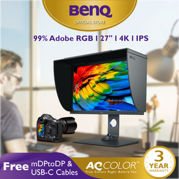 BenQ SW270C 27 inch 2K QHD 99% Adobe RGB USB-C Color Management Photographer Monitor Best for Photo Editing