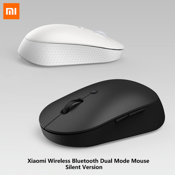Xiaomi Wireless Bluetooth Dual Mode Mouse Silent Version Comfortable Grip Bluetooth/2.4Ghz Opto-electronic Connect Side Button Screw-on Battery Cover Design Mini Home Office Gaming Mouse