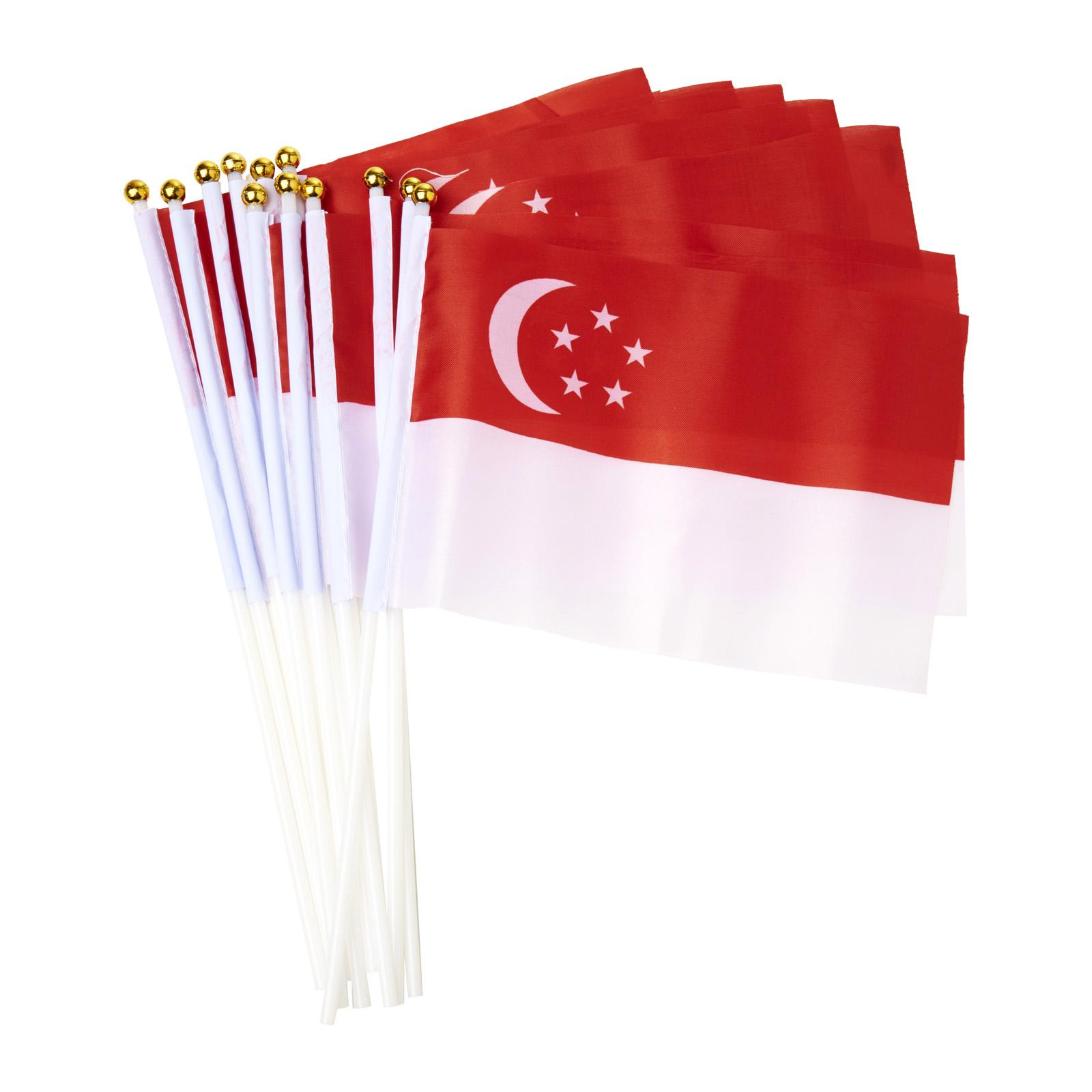 CGS Handheld Singapore Flag (12 Pcs) Decoration