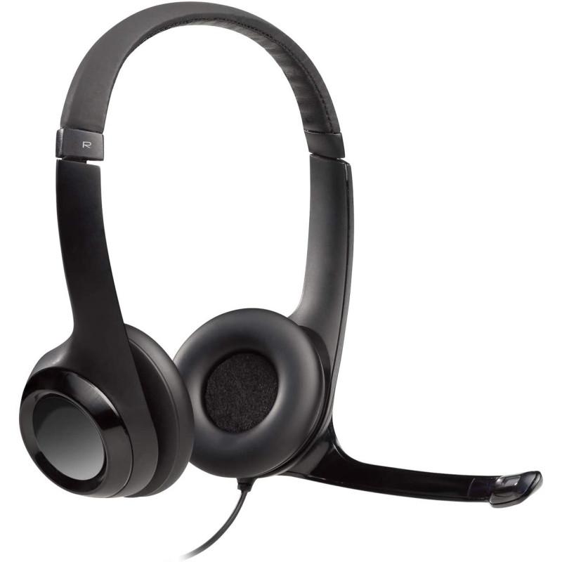 Logitech H390 USB Computer Headset Enhanced Digital Audio In line controls Singapore