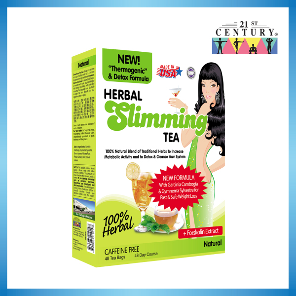 Buy 21st Centurys Official E-Store Herbal Slimming Tea - 48 Teabags - Natural Singapore
