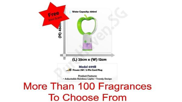 [BNIB] FOC 30ml Scent Liquid! Model 699B Water Air Purifier 400ml! With Adjustable Rainbow Lights! Singapore