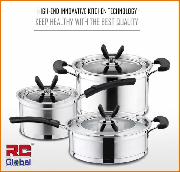 RC-Global  Heavy Duty Stainless Steel Cookware sets / Cooking Pot / Frying Pan / Soup Pot Singapore