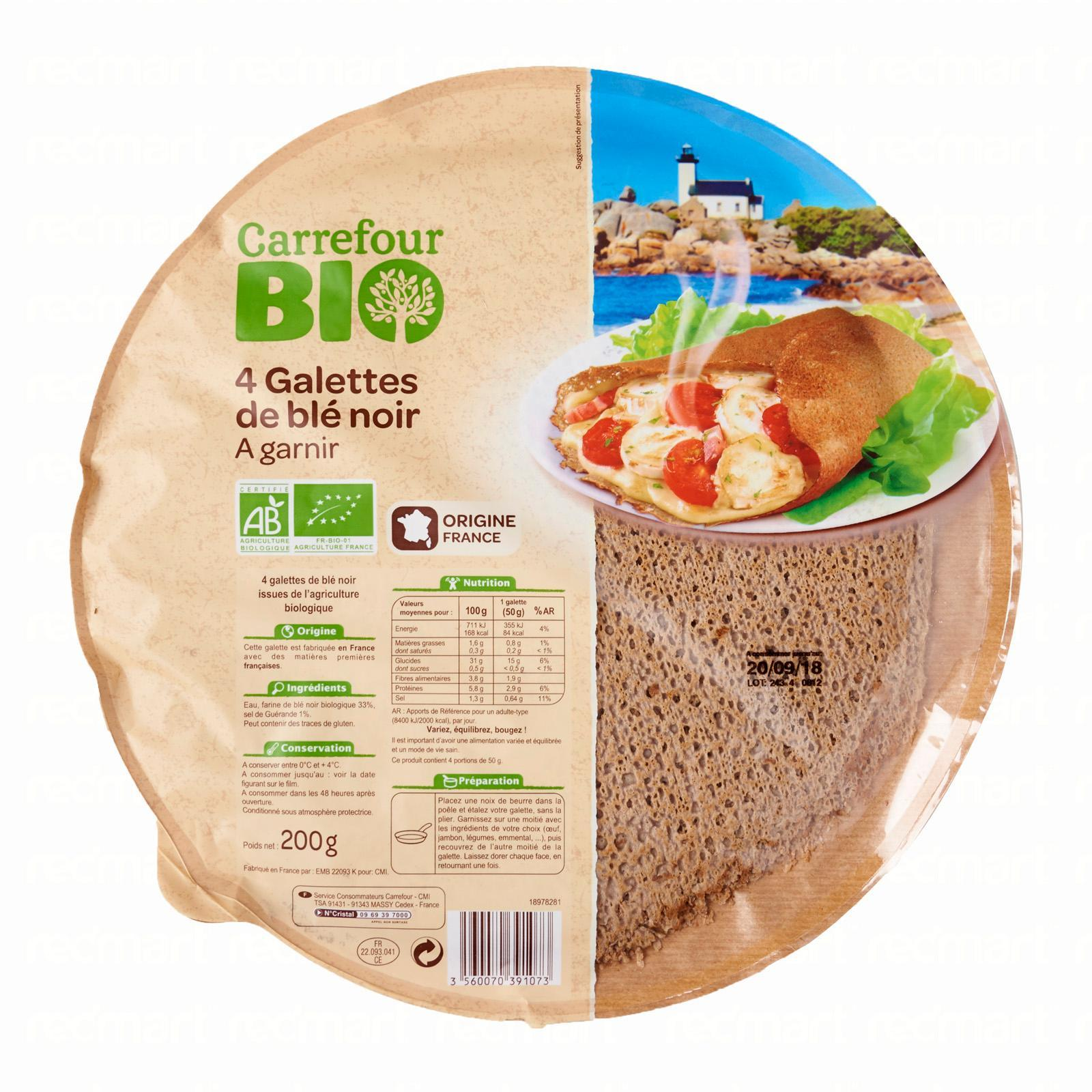 Carrefour Organic Buckwheat Pancakes - By Le Petit Depot By Redmart.